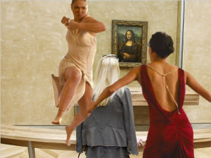 Concept Art: Ronda Rousey fights Letty in Mona Lisa room